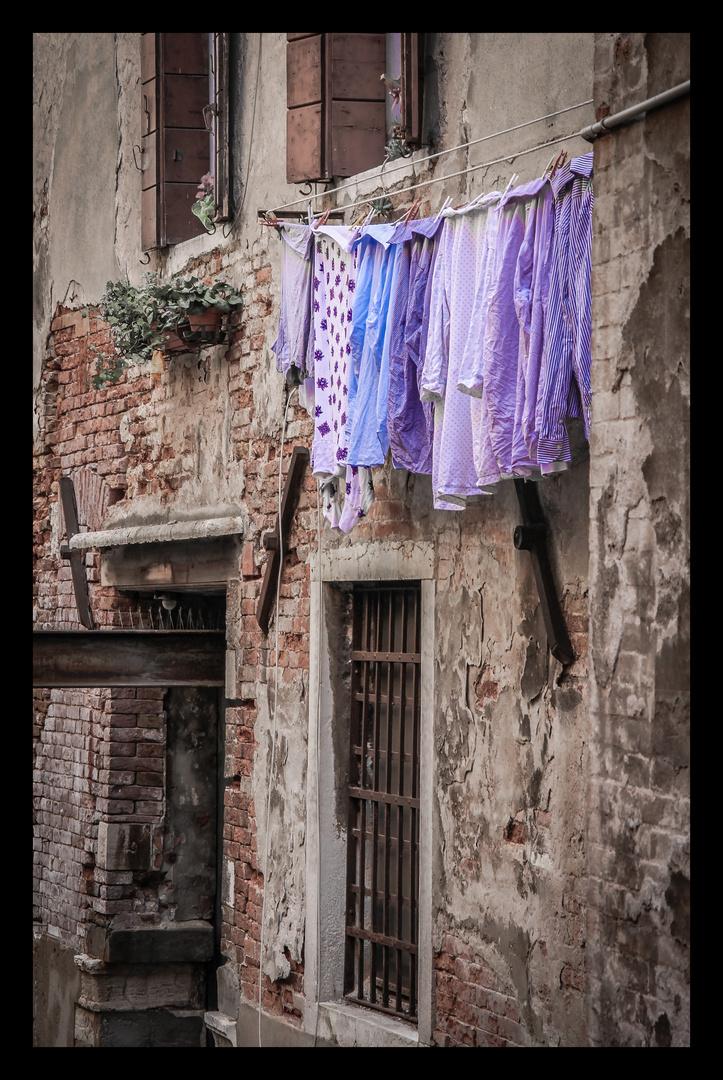 ... lila wäsche ...