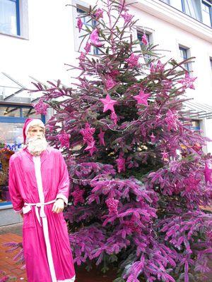 Lila Weihnachtsbaum 2009
