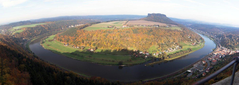 Lilienstein und Elbe