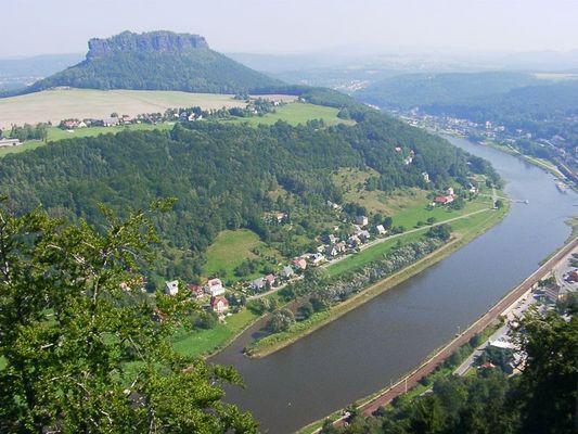 Lilienstein und Elbverlauf