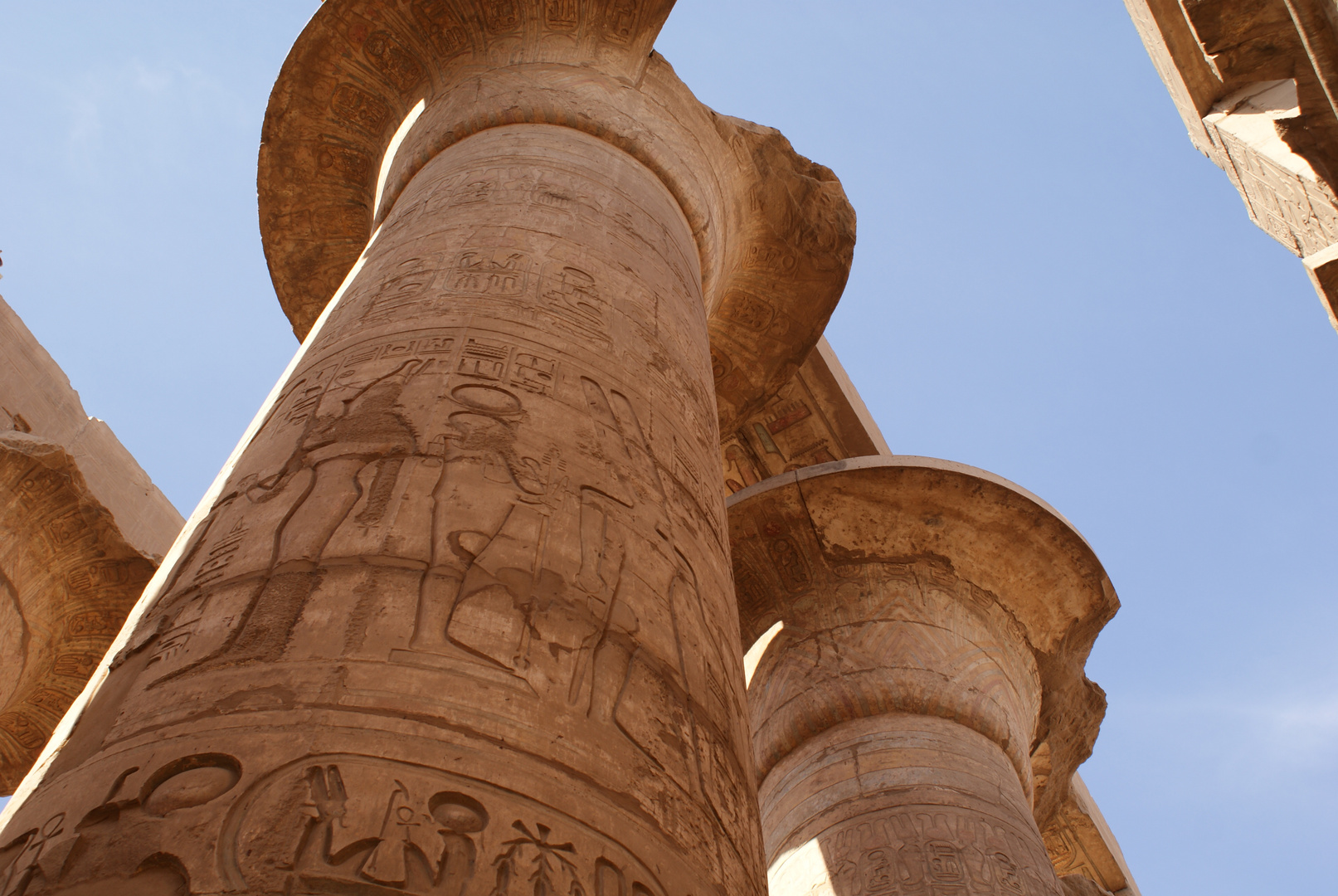 L'immensité du temple de Louxor