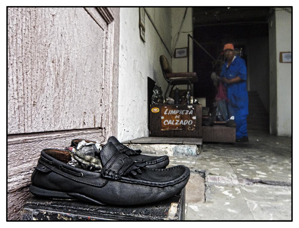 Limpieza de calzado