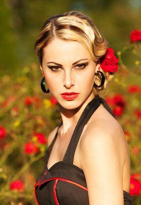 "Linda in ""Rose Garden"""