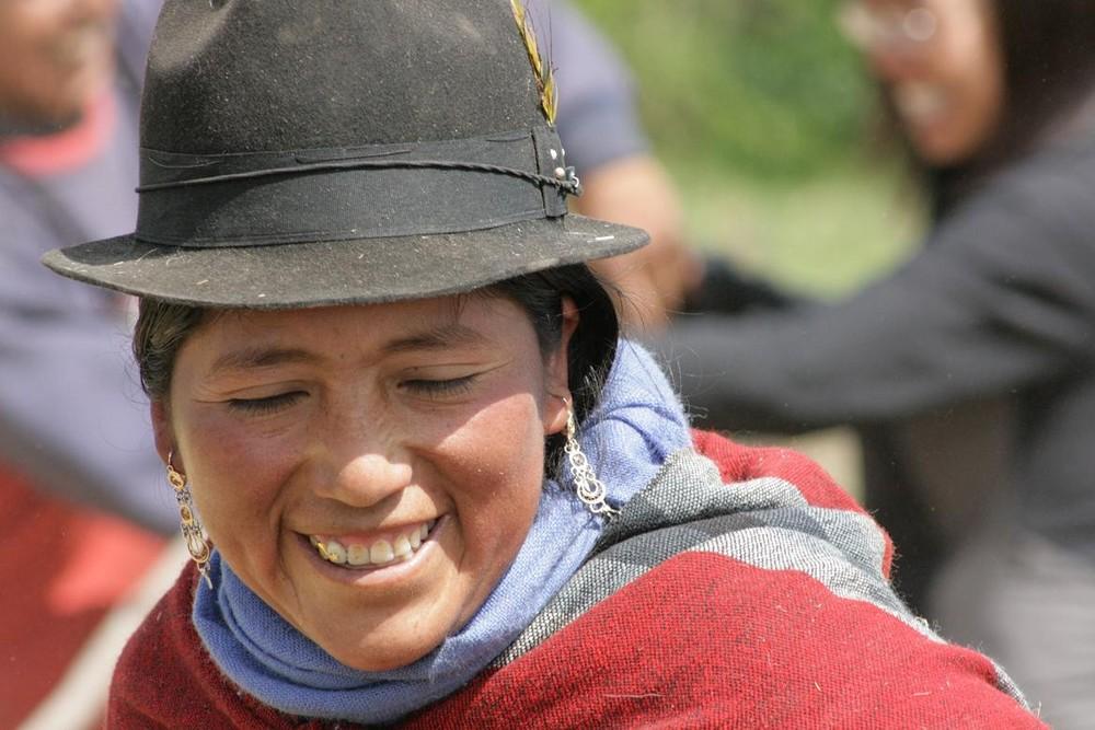 linda indigena Ecuatoriana