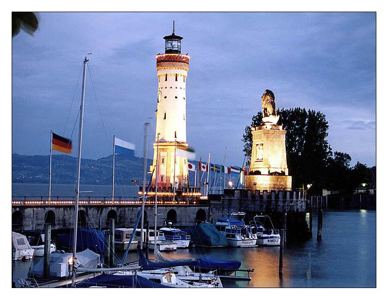 Lindau - Abendstimmung am Hafen