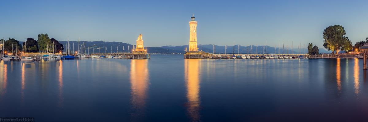 Lindauer Hafeneinfahrt-Panorama