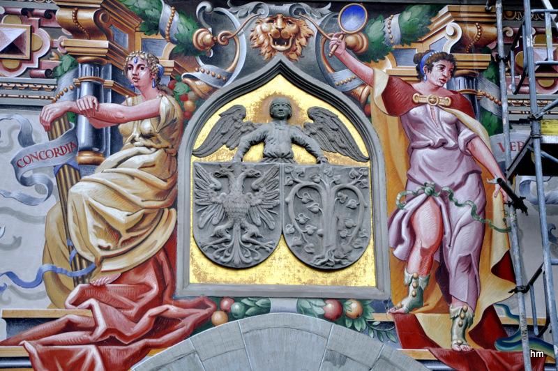 Lindauer Stadtwappen an der historischen Bibliothek