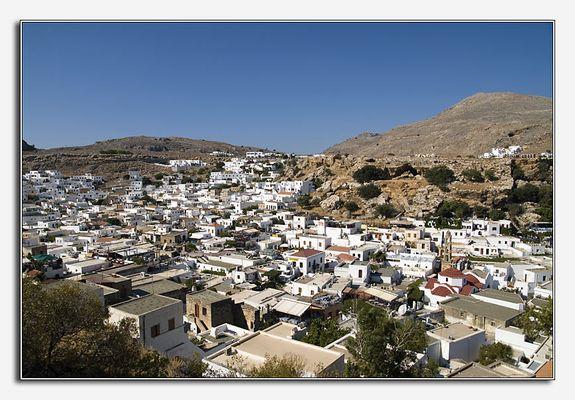 Lindos die weisse Stadt auf Rhodos