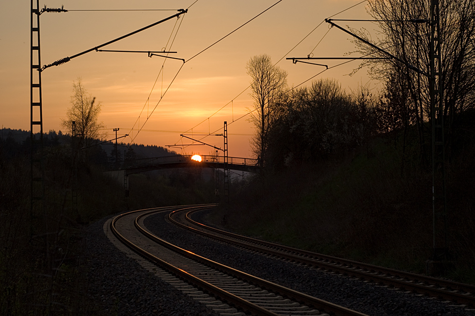 lines at sunset