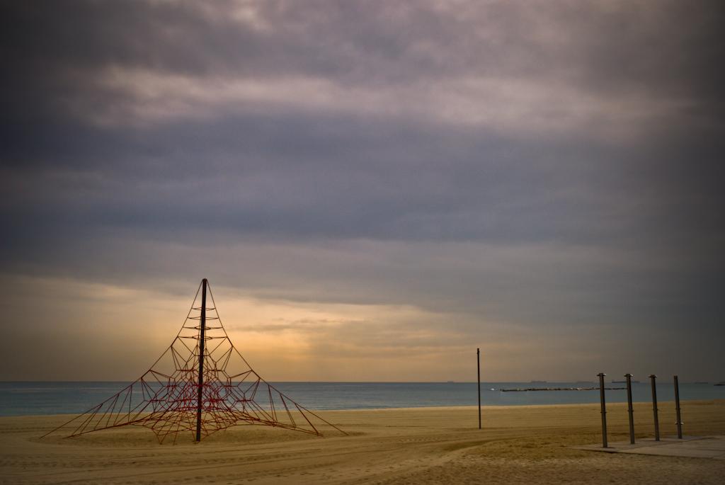 lines on beach