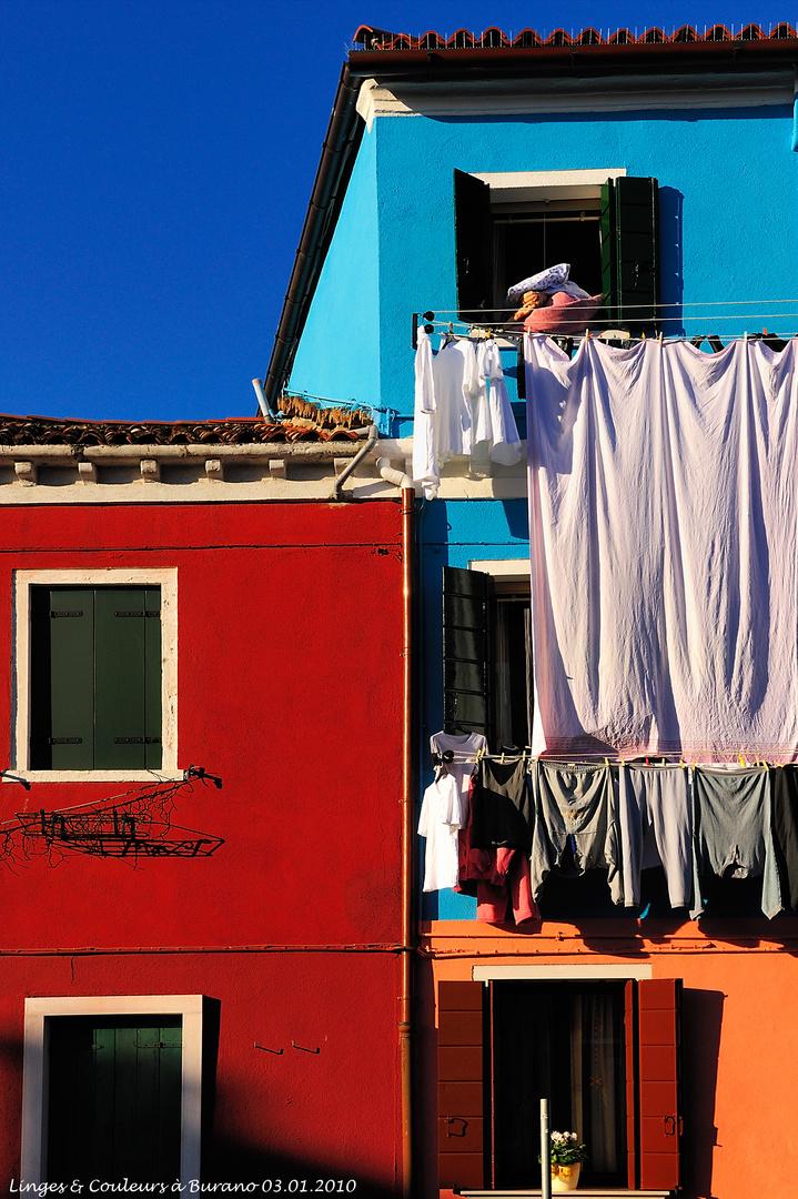 Linges & Couleurs à Burano (03.01.2010)