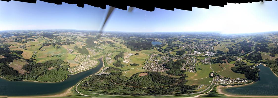 Lingesee, Brucher , Marienheide Panoramaluftbild