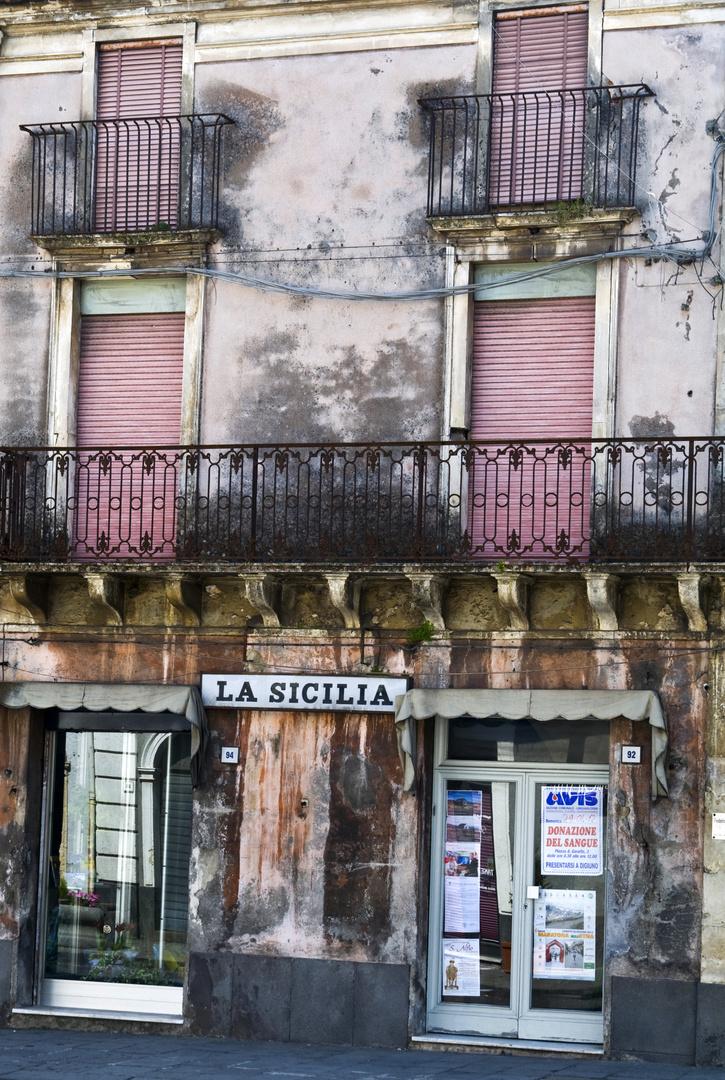 Linguaglossa - Fassade - Sicilia - Region Etna - UNESCO