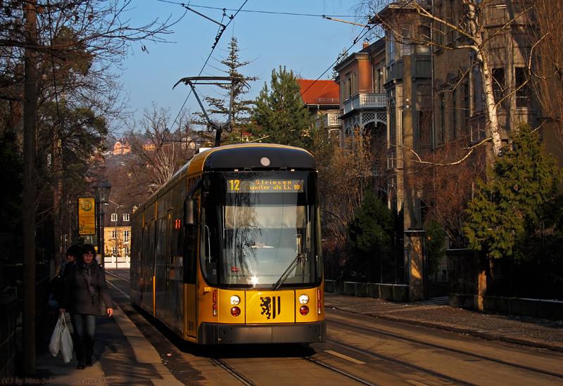 Linie 10/12 in Nachmittagssonne
