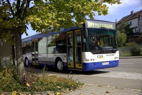 Linienbus in Kohlberg am Hörnlesweg