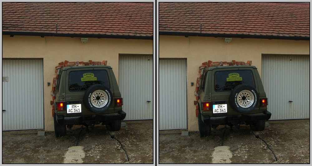Linke oder rechte Garage ???? 3D Kreuzblick