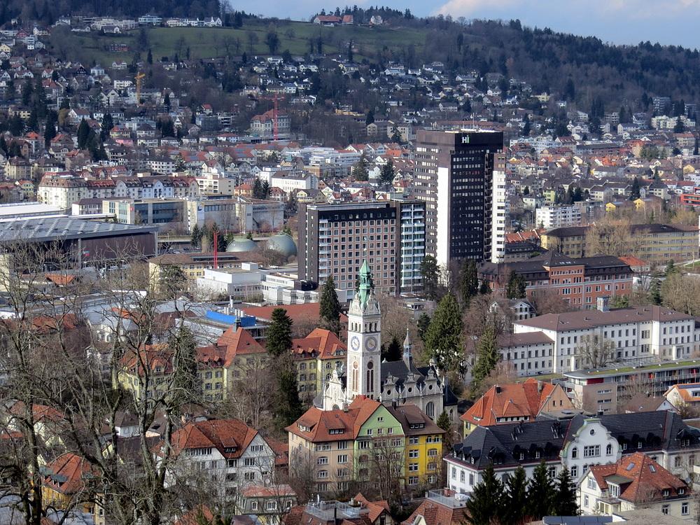 Linsenbühlkirche und Kantonsspital