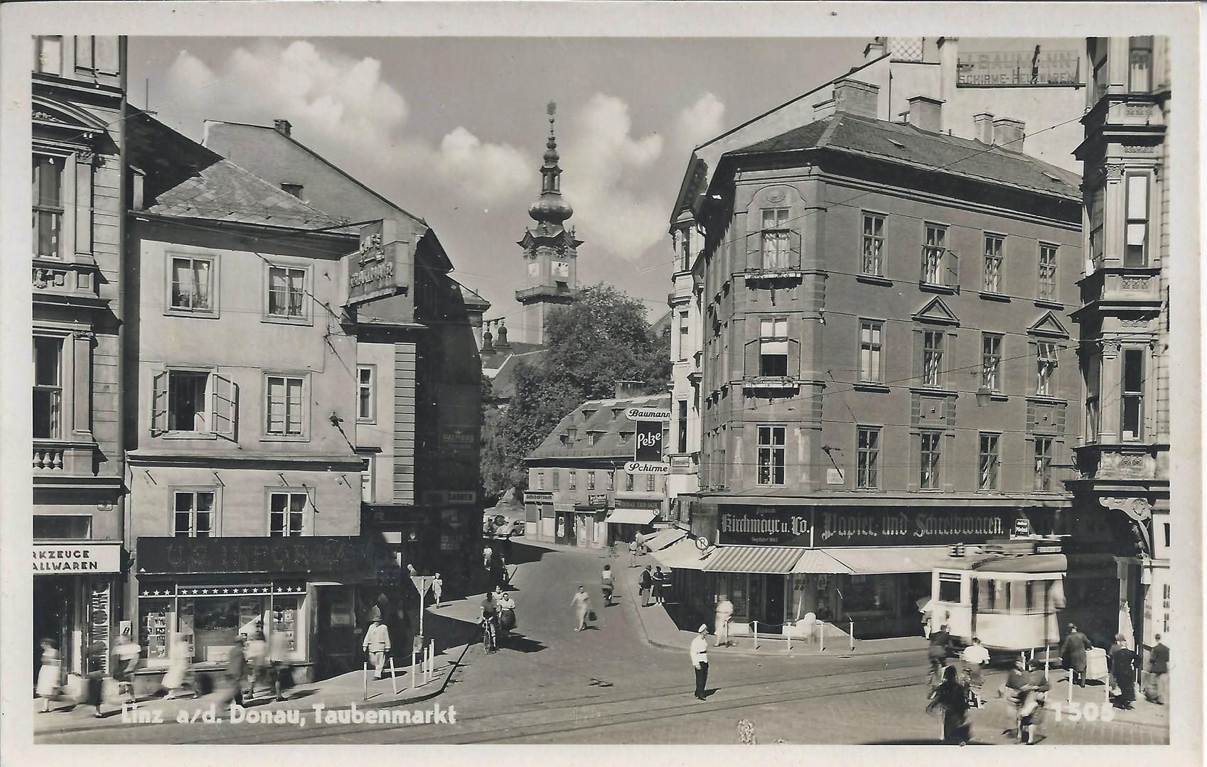 Linz Taubenmarkt 1917
