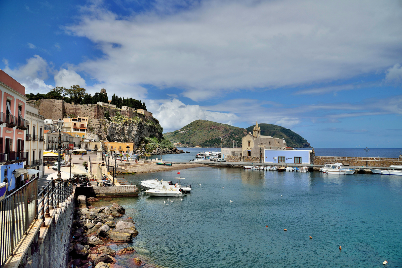 Lipari Stadt Marina Corta