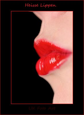 Lippen in Rot