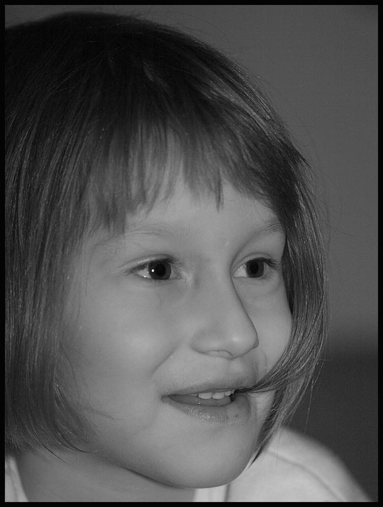 Lisa in Schwarz/Weiß