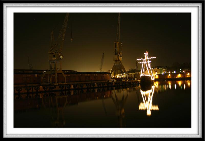 Lisa von Lübeck bei Nacht