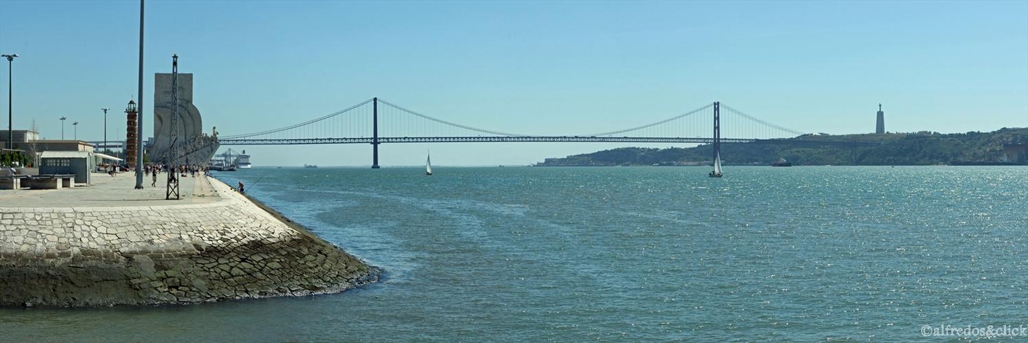Lisabon,Brücke über dem Tejo