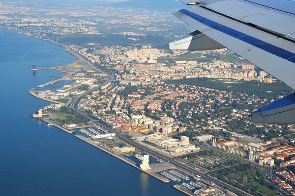 Lisboa vue d'avion