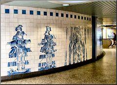 Lisbon underground modern AZULEJOS