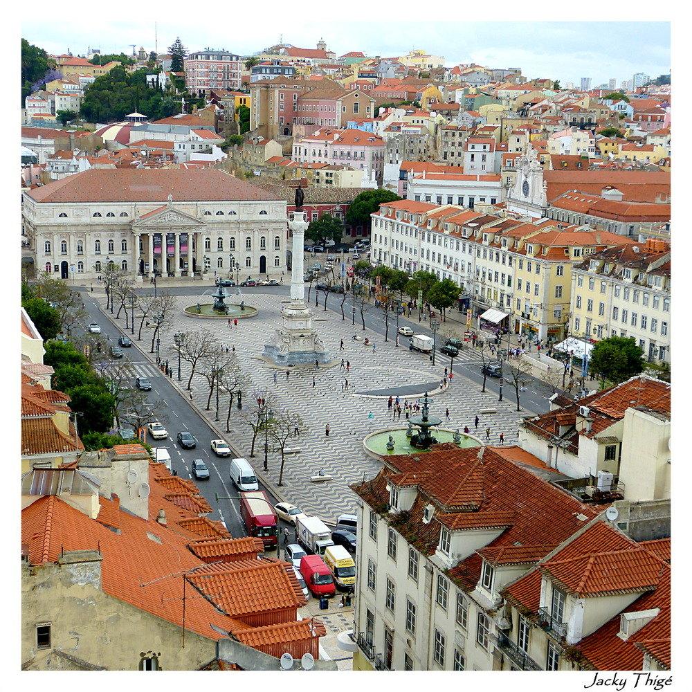 Lisbonne une vue du centre ville photo et image europe for Piscine lisbonne