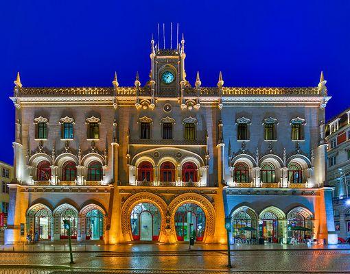 Lissabon, Rossio, der Bahnhof