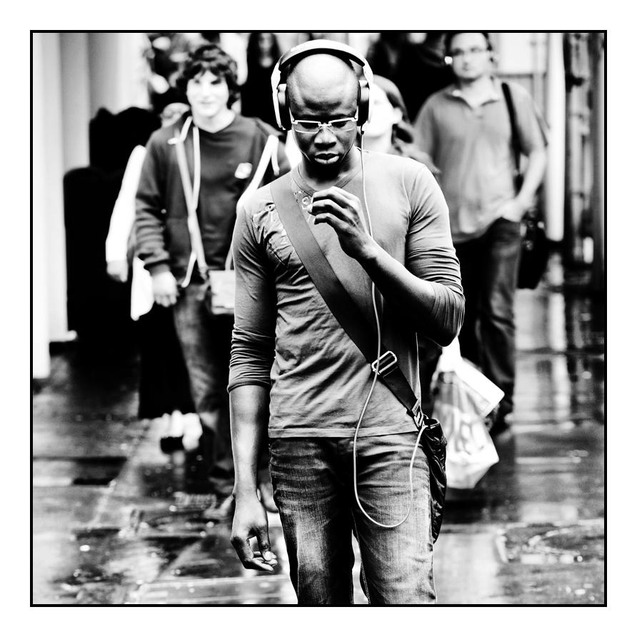 ...listening music...