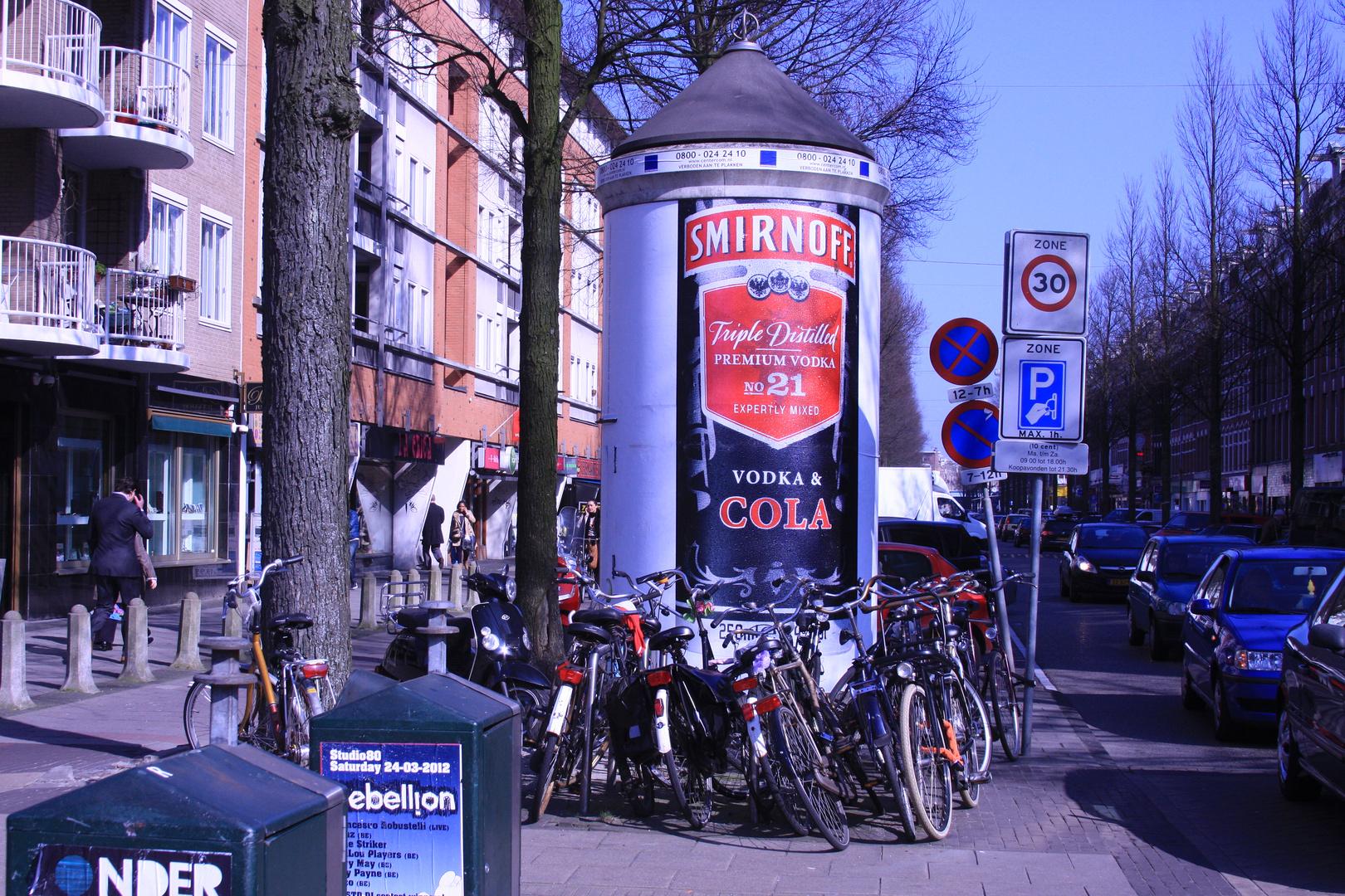 Litfaßsäule in Amsterdam-Ost