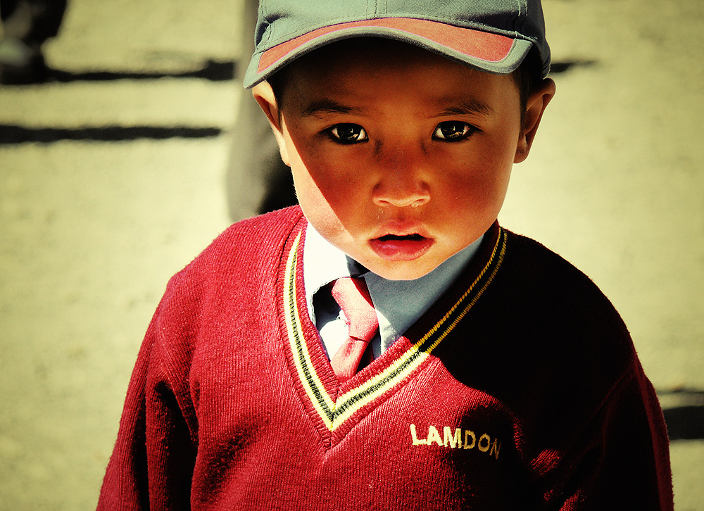 little ladakhi boy....at lamdon school   ladakh