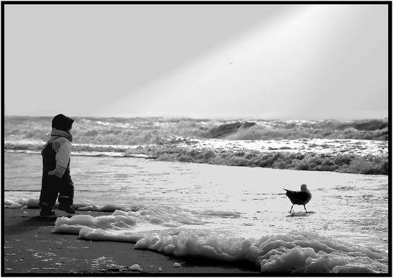 little man hunting big bird I