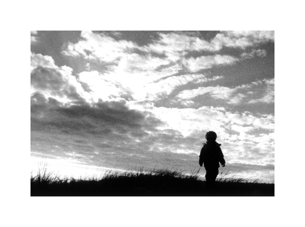 Little man under a big sky