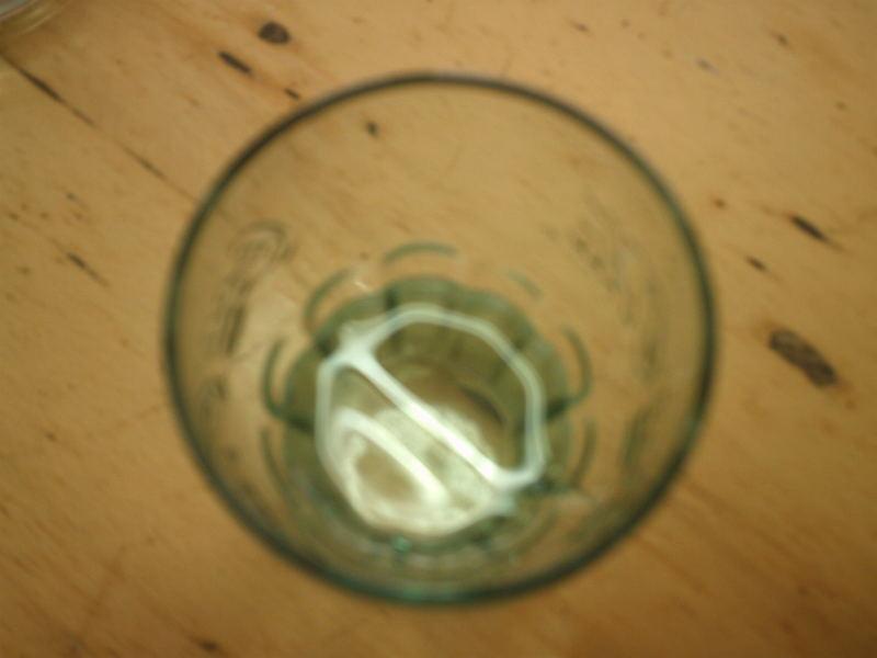 little water in glass
