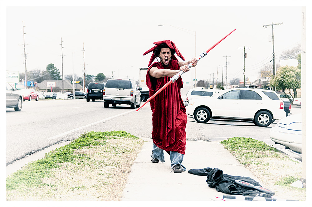 Living Signs: Red Jedi Knight