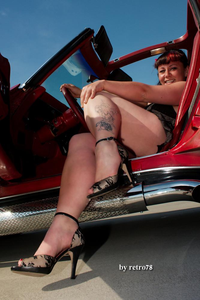 Liz in Corvette