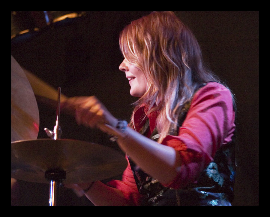 Lizzy on the drums
