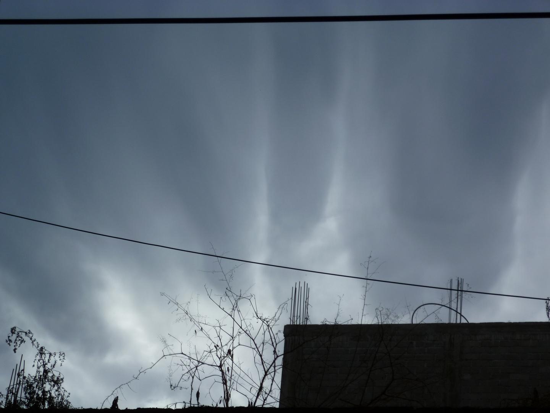 llamaradas en el cielo