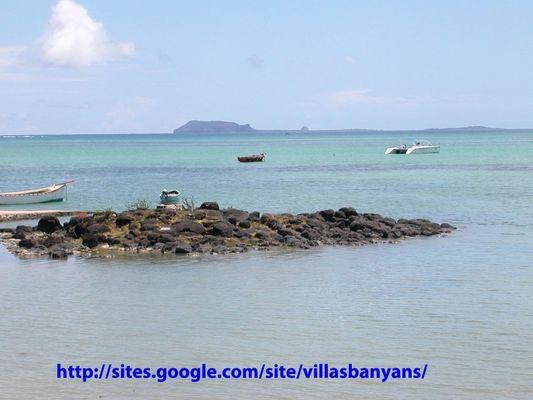 L'Île Plate Vue de Villa Banyan
