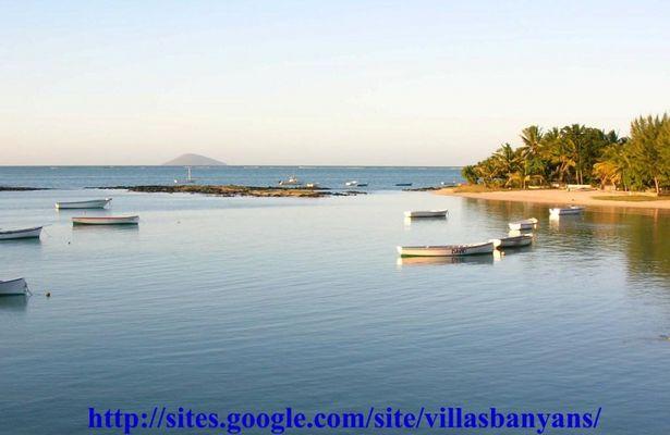 L'île Plate Vue de Villas Banyan