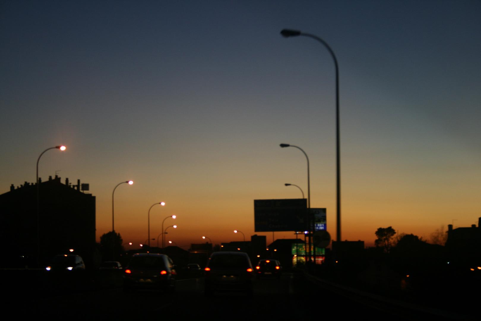 Llegando a la ciudad