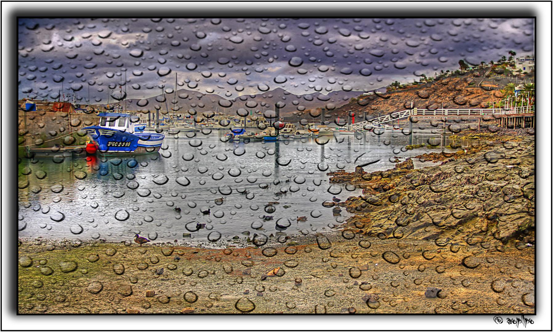 Lloviendo en Puerto del Carmen