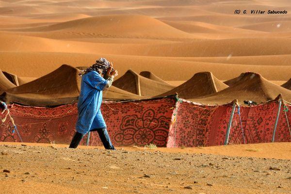 Lluvia en el desierto.