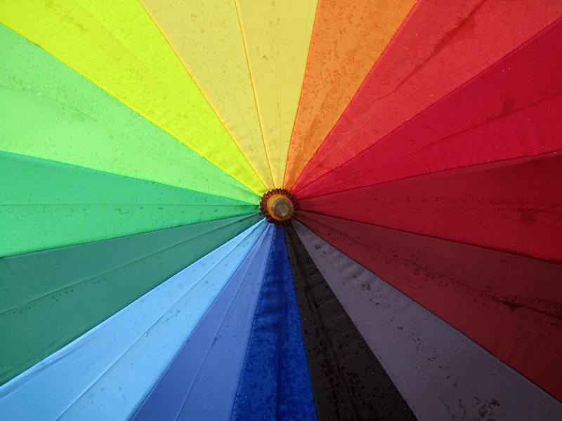 Lluvia Protección Multicolor