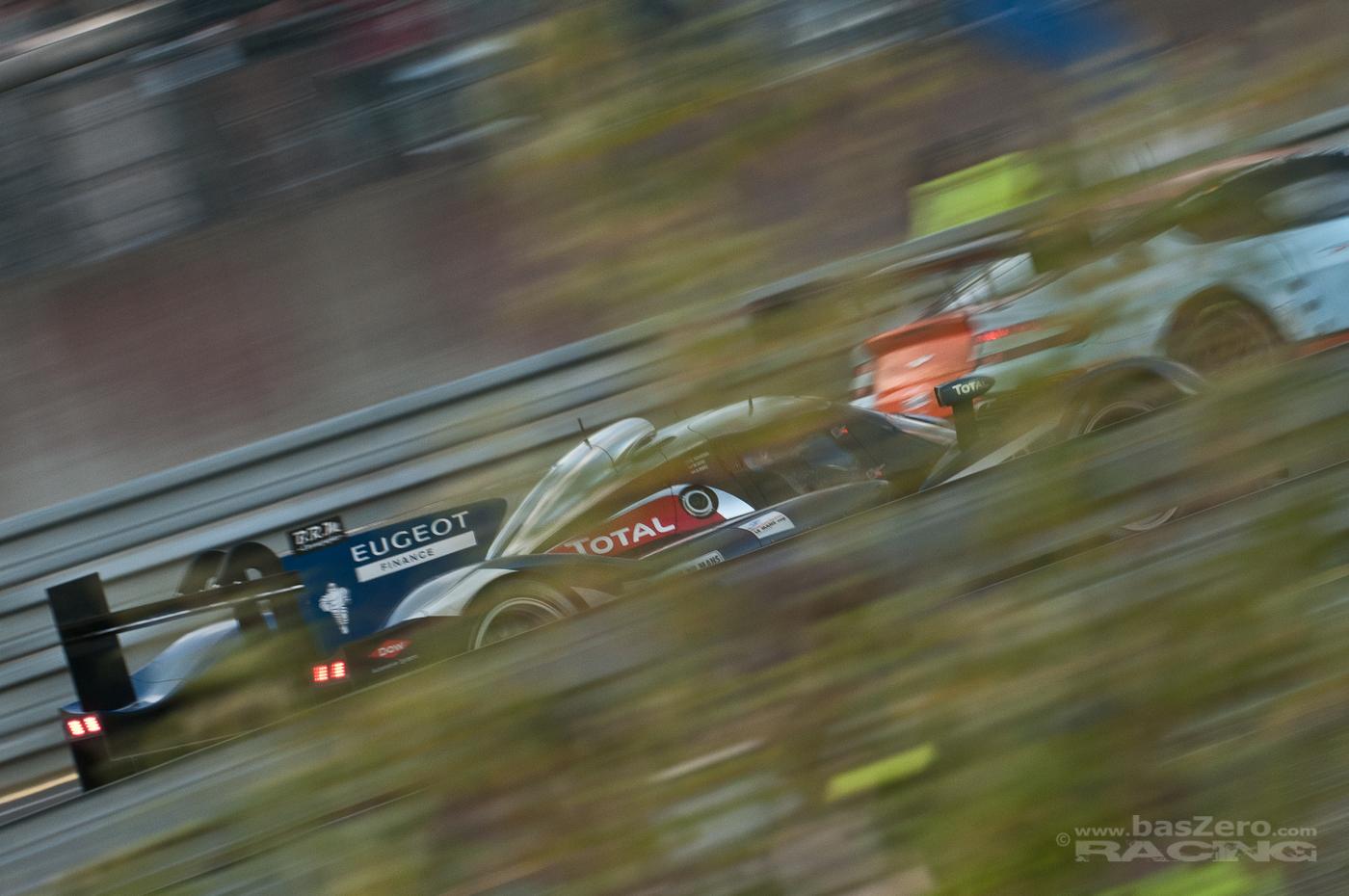LMP1 gegen GTE - das ewige Überholen (Le Mans 2011 - Tertre Rouge)