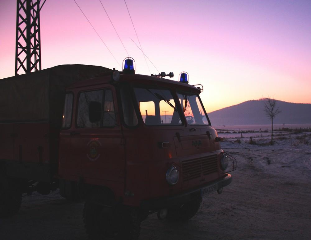 LO Robur im Sonnenuntegang