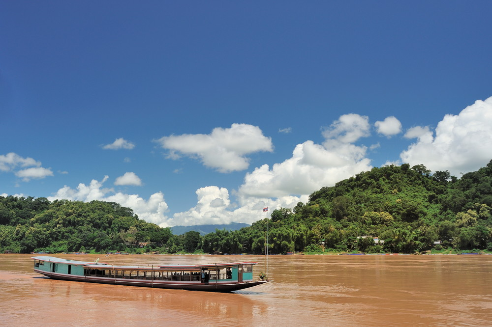 Local booat on the Mekong